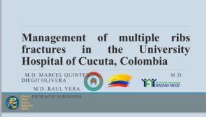 """PRESENTACIÓN Y PONENCIA: """" MANEJO QUIRÚRGICO DE FRACTURAS COSTALES MÚLTIPLES EN HOSPITAL UNIVERSITARIO DE CÙCUTA, COLOMBIA 2015-2019""""; en el CONGRESO MUNDIAL DE LA SOCIEDAD DEL TRAUMA DE PARED TORÁCICA (CHEST WALL INJURY SOCIETY – CWIS) @cwisociety FELIZ DÍA DEL IDIOMA."""