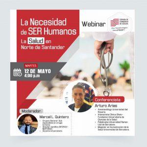 Acompáñanos este martes 12 de mayo a las 4:00PM al Webinar denominado :¡La Necesidad de SER Humanos! La Salud en Norte de Santander. Así se denomina nuestro Webinar que tendremos con médicos especialistas este martes 12 de mayo a las 4:00 PM. Acceso directo a la charla: https://bit.ly/3fwmDrR