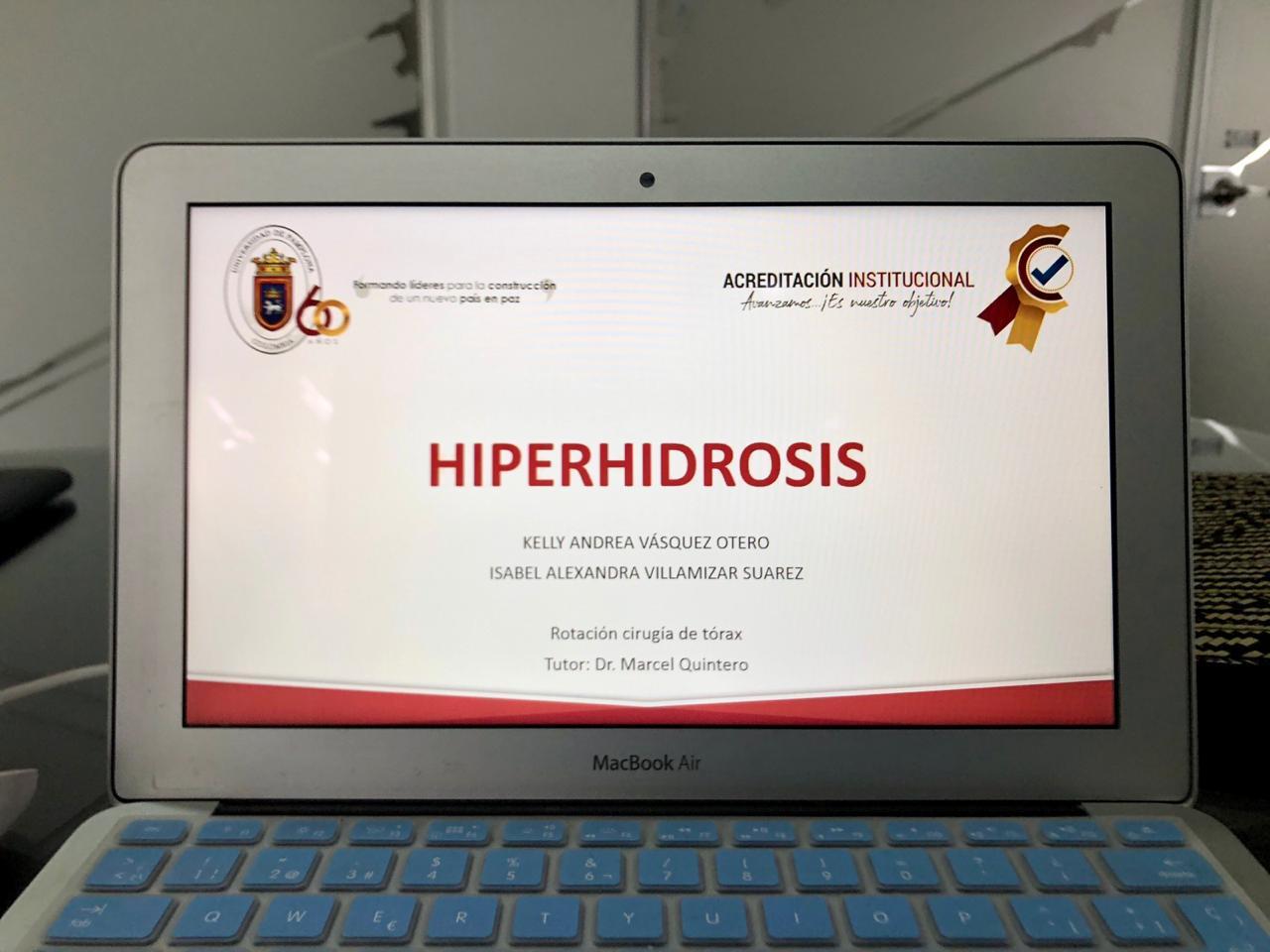 """HIPERHIDROSIS"" Clase VIII SEMESTRE MEDICINA/UNIVERSIDAD DE PAMPLONA  22/05/2020"