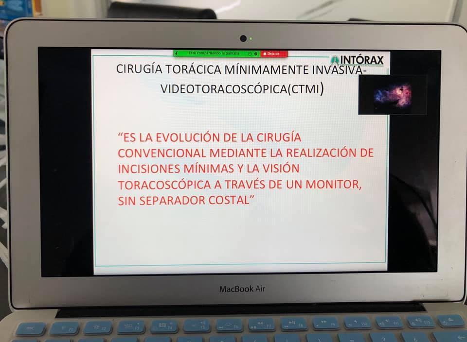 """CLASE: """"INTRODUCCIÓN A LA CIRUGÍA DEL TÓRAX"""" 8 SEMESTRE MEDICINA UNIPAMPLONA. 13 DE JULIO 2020."""