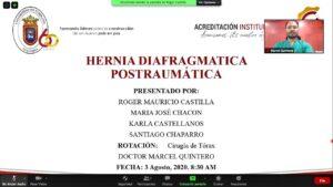 "SEMINARIO: ""HERNIA DIAFRAGMÁTICA POSTRAUMATICA"" VIII SEMESTRE UPA. 10/08/2020–"