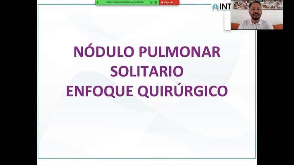 """CLASE:""""NÓDULO PULMONAR SOLITARIO(NPS) ENFOQUE QUIRÚRGICO"""" Estudiantes VIII Semestre UPA. 21/09/2020."""