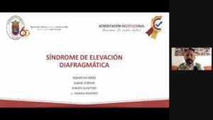 "SEMINARIO :""SINDROME DE ELEVACIÓN DIAFRAGMÁTICA"" Estudiantes VIII Semestre UPA. 23/11/2020."