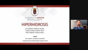 """SEMINARIO: """"HIPERHIDROSIS"""" Estudiantes de VIII Semestre de Medicina UPA. 13/11/2020."""