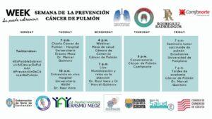 SEMANA CONTRA EL CÁNCER DE PULMÓN 16-20 NOVIEMBRE 2020
