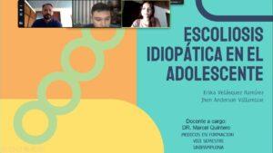 """SEMINARIO: """"ESCOLIOSIS IDIOPÁTICA EN EL ADOLESCENTE"""" Estudiantes de VIII Sementre UPA 29/03/2021"""