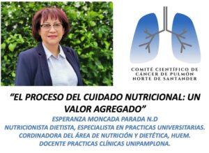 """26/08/2021- COMITÉ DEPARTAMENTAL DE CÁNCER PULMONAR(CDCP)COMITÉ VIRTUALT3E8""""EL PROCESO DE CUIDADO NUTRICIONAL: UN VALOR AGREGADO"""" por Esperanza Moncada Parada; Nutricionista Dietista, Especialista en Prácticas Universitarias. @intorax.cucuta @esperanzamoncadap @hospitalerasmomeoz @rodriguezradiologos @oscar.oncologia81 @ricardoplazp @jjgarpe @nestor.col"""